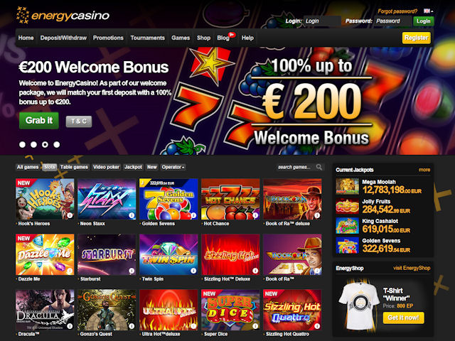 EnergyCasino screenshot 1