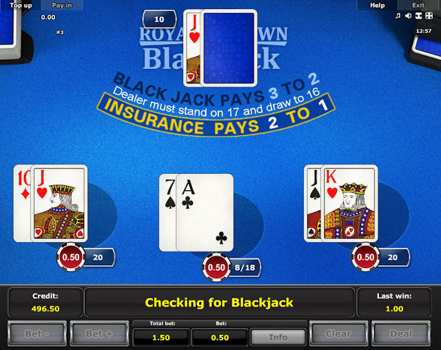 Online game Royal Crown Blackjack for free